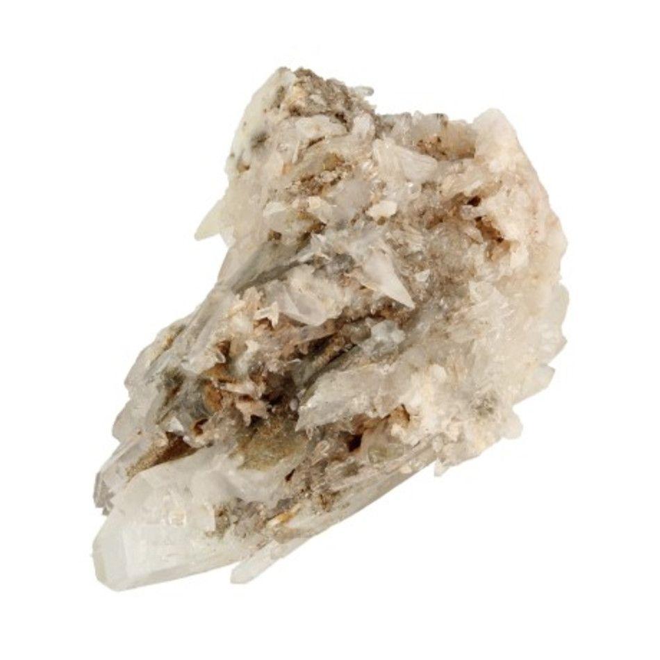 Bergkristal / Lemurisch kristal / Fadenkwarts ruwe combi nr.7