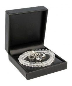 Bergkristal Ruby Mania, armband nr 1, rond