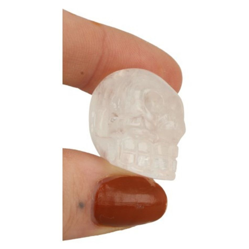 Bergkristal schedel 25 mm doorboord