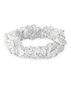 Bergkristal splitarmband cluster