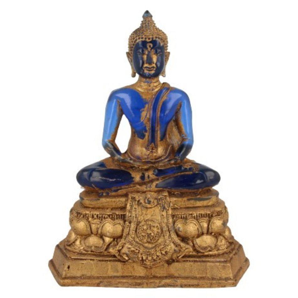 Boeddha groot blauw