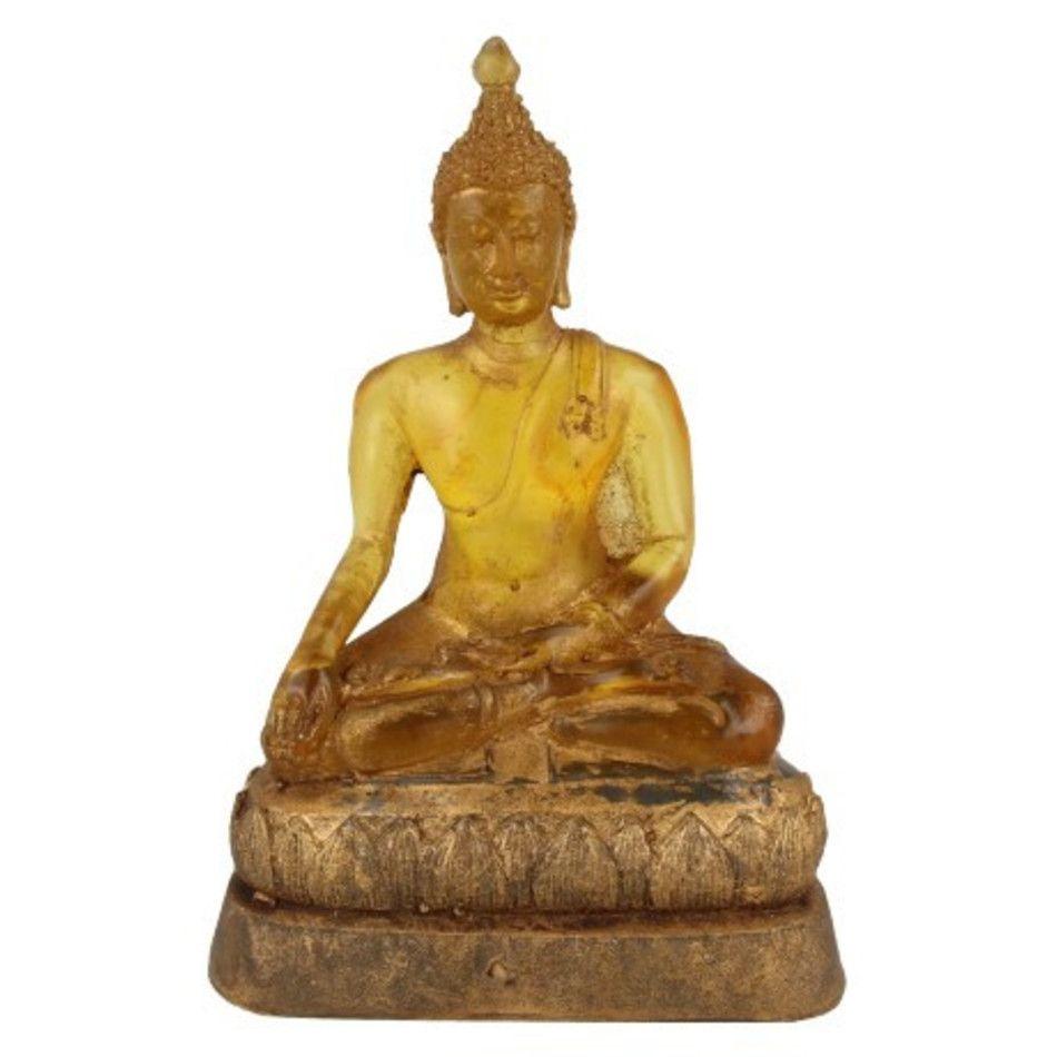 Boeddha groot geel