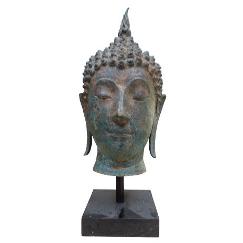 Boeddha hoofd beeld brons nr.15