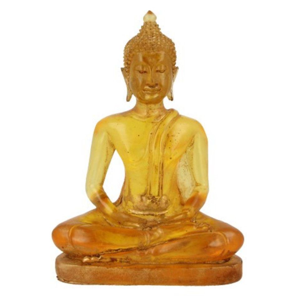 Boeddha klein geel