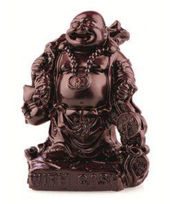 Boeddha rood 15 cm, with cash