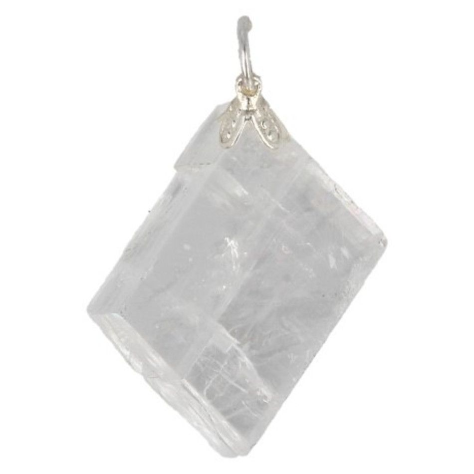 Calciet wit ruw edelsteen hanger
