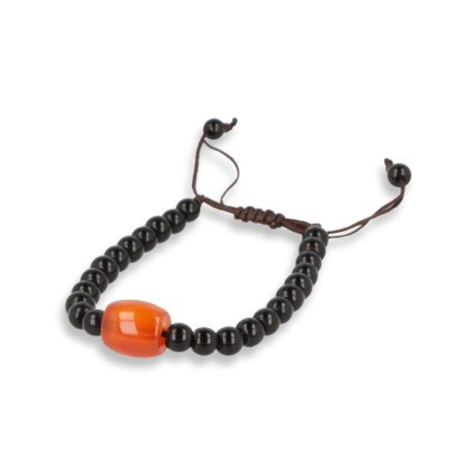 Carneool / Onyx armband