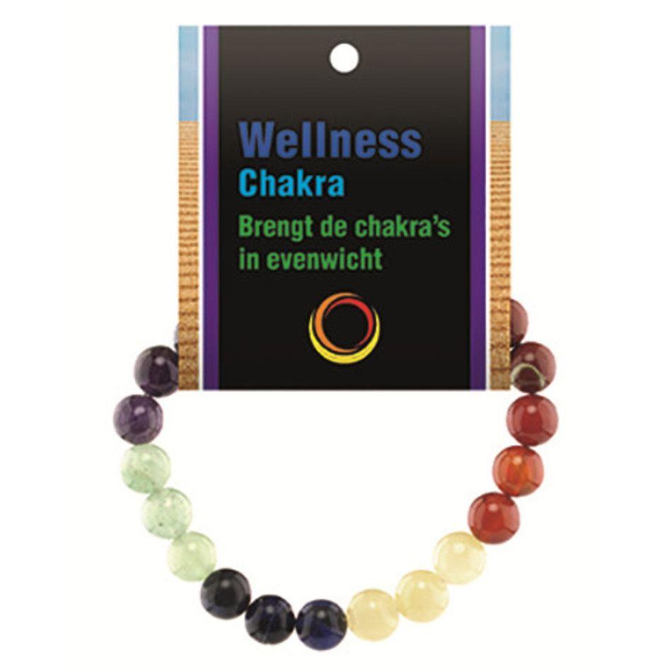 Chakra powerbead armband + kaart