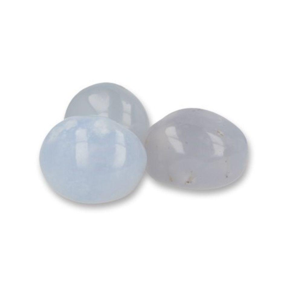 Chalcedoon A trommelstenen (mt3), per gram