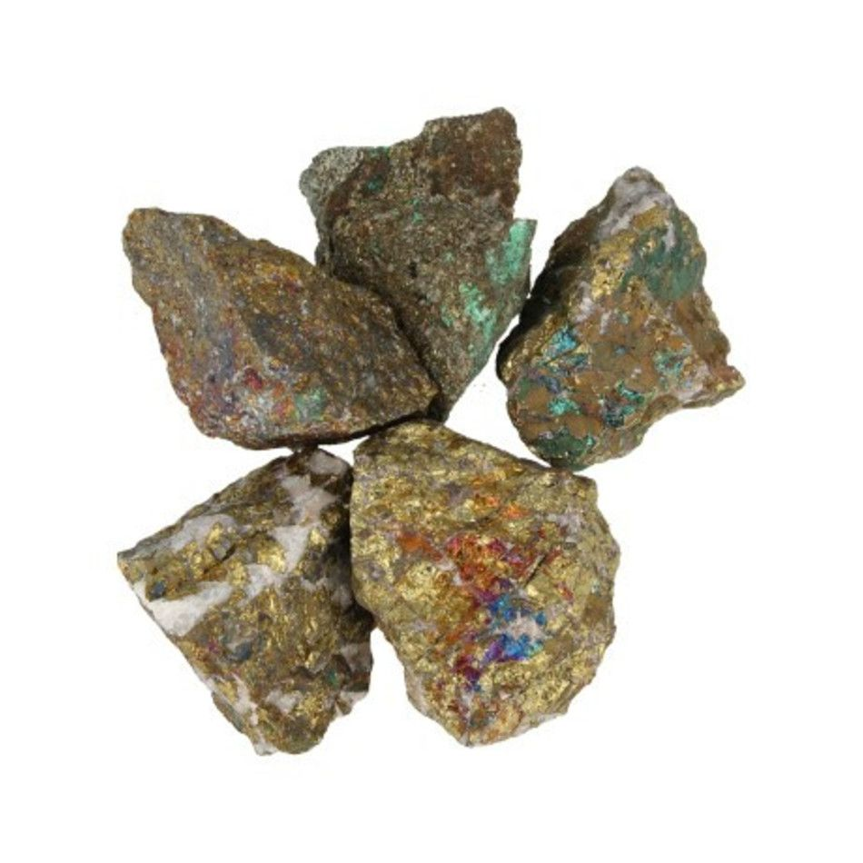 Chalcopyriet 500 gr. ruwe brokjes