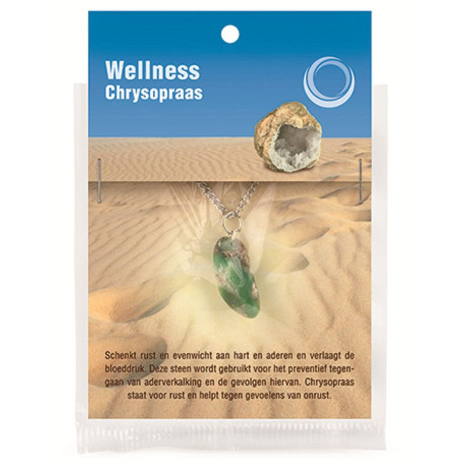 Chrysopraas gezondheids hanger