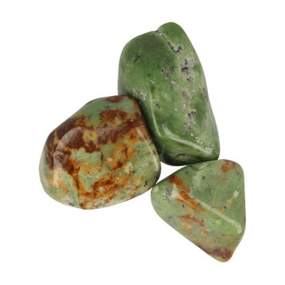 Chrysopraas Madagaskar 100 gr. trommelstenen (mt3)
