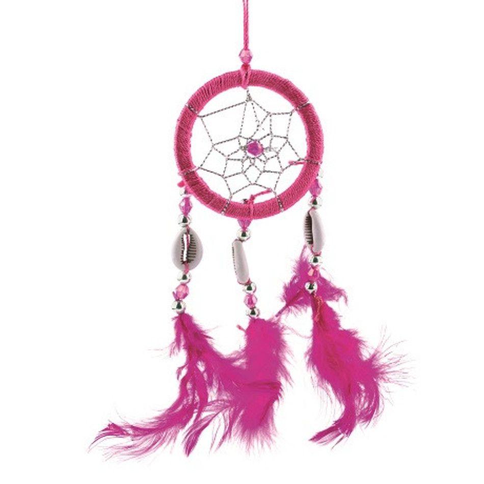 Dromenvanger 5 cm, roze schelpjes