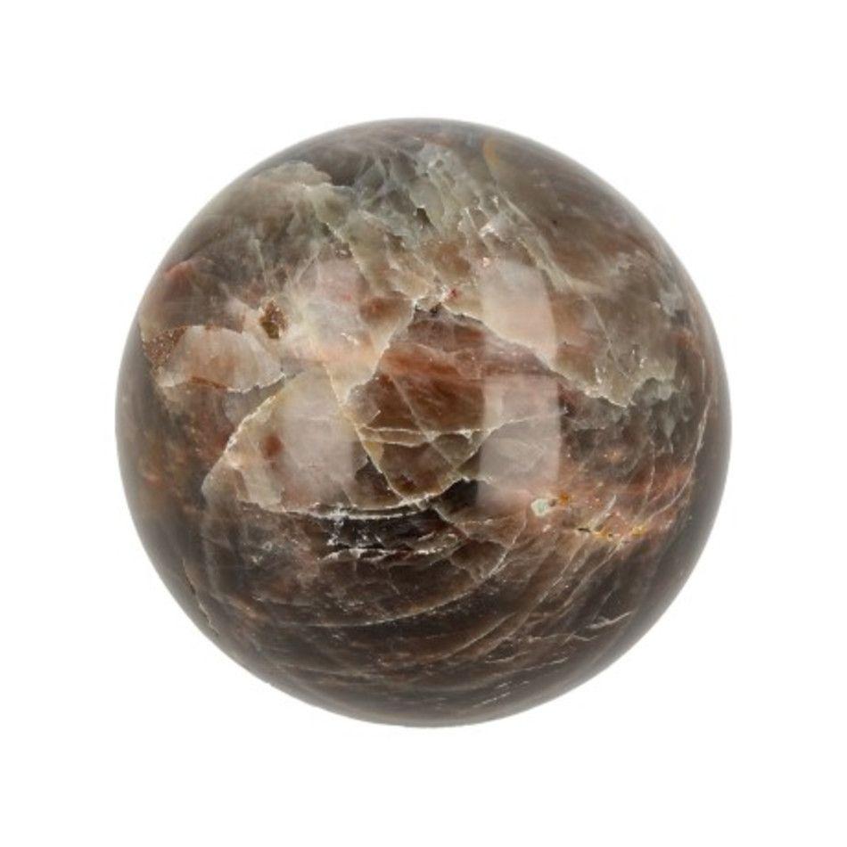 Edelsteen bol 60 - 65 mm Maansteen grijs
