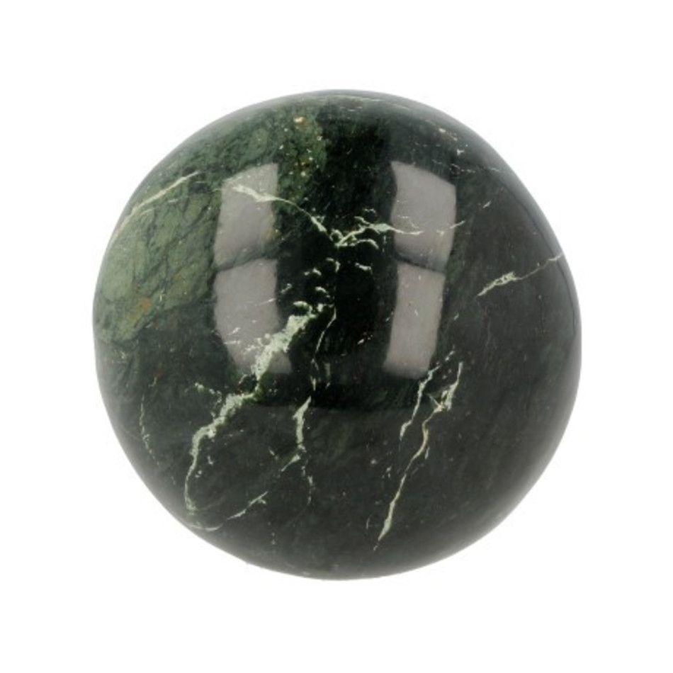 Edelsteenbol Jade donker 10,5 cm