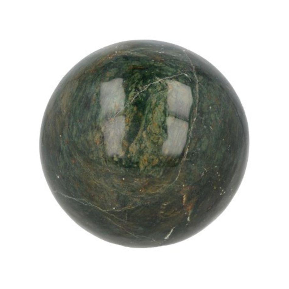 Edelsteenbol Jade donker 8 cm