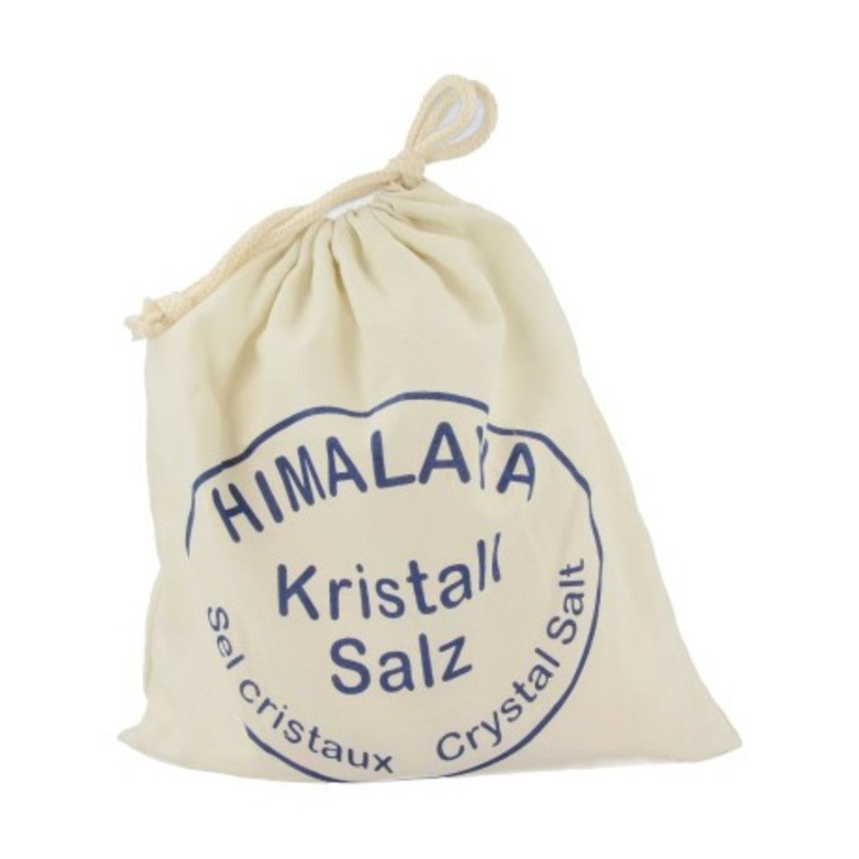 Fijn zout in katoenen buidel