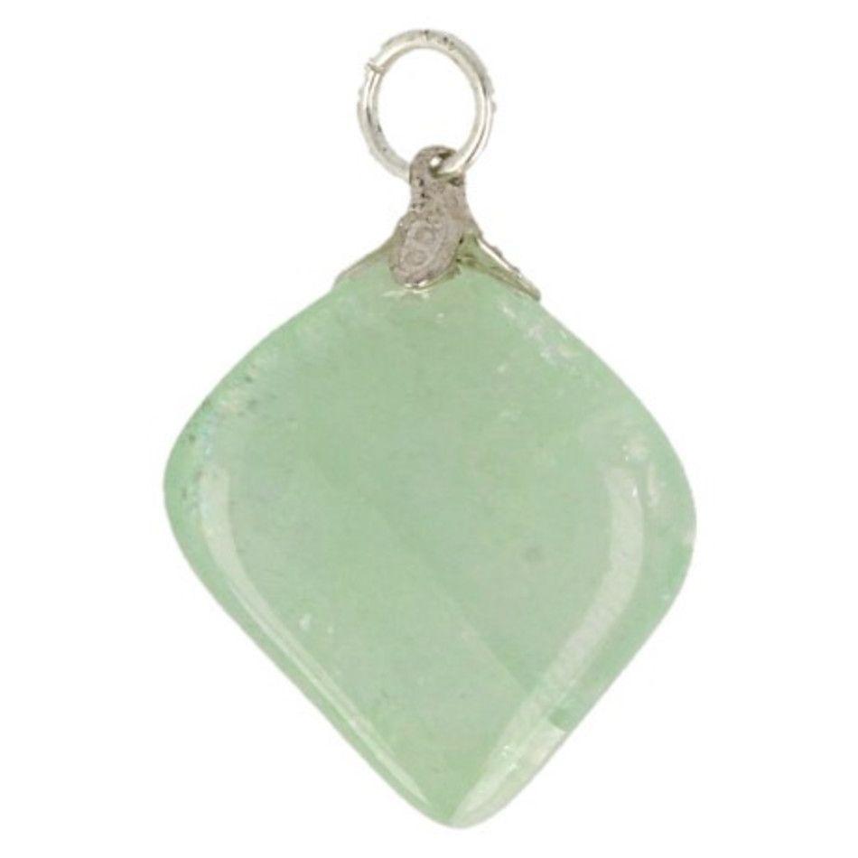 Fluoriet groen edelsteen hanger