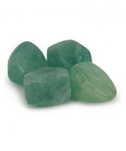 Fluoriet groen trommelstenen (mt3)