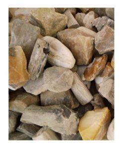 Fossiel hout kleine stukjes ruw, p/kg