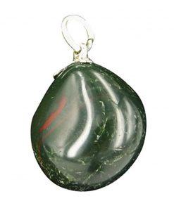 Heliotroop groen edelsteen hanger