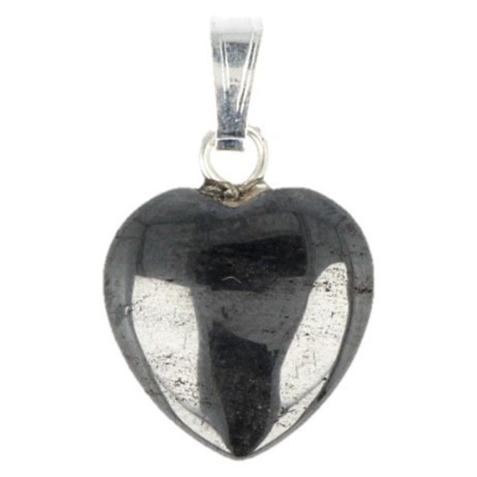 Hematiet hart hanger 12 mm