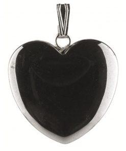Hematiet hart hanger 20 mm