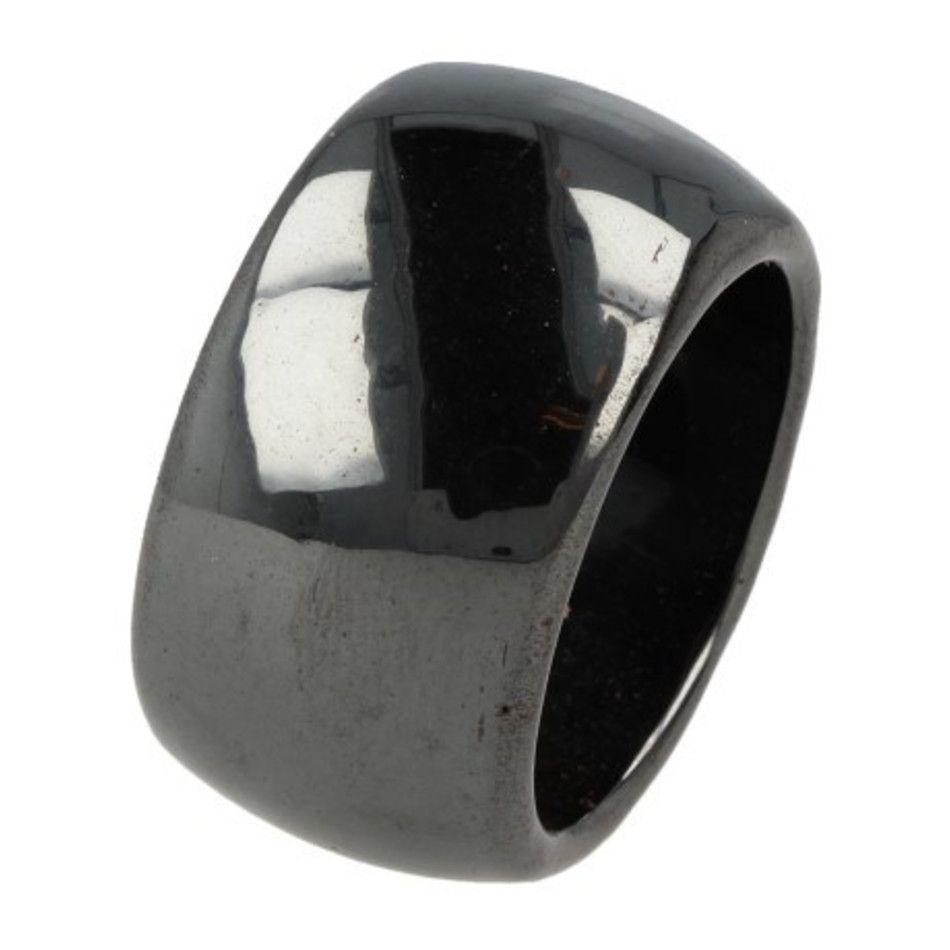 Hematiet magneet ring - 22