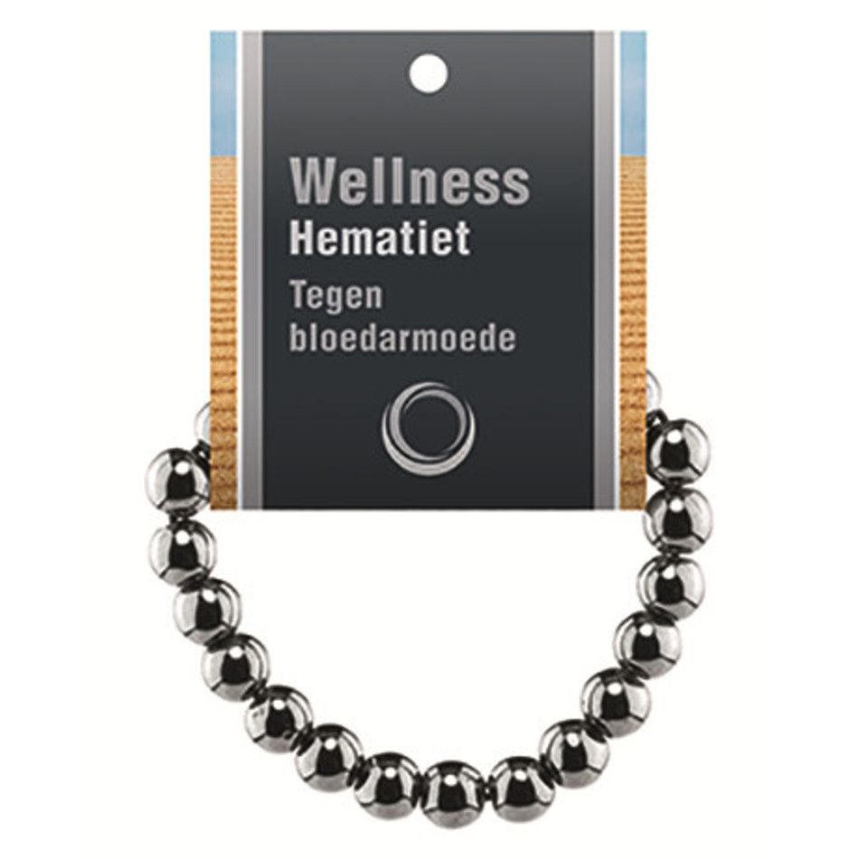 Hematiet powerbead armband + kaart