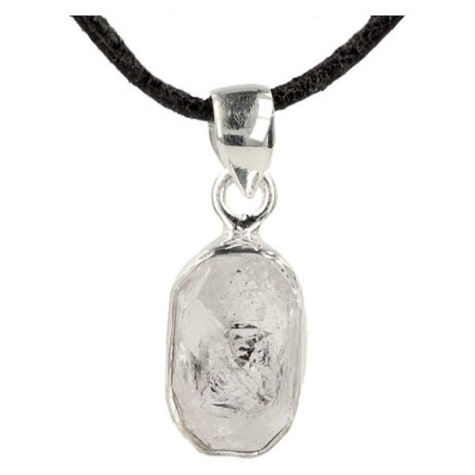 Herkimer hanger in zilver