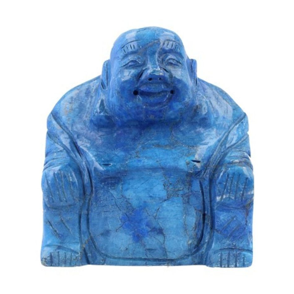 Howliet blauw boeddha 75 mm (gekleurd)