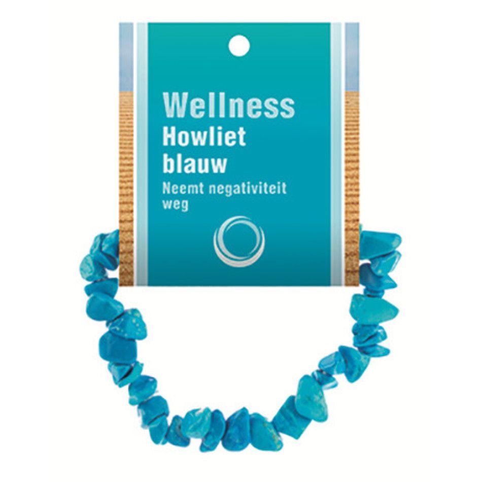 Howliet blauw splitarmband + kaart (gekleurd)