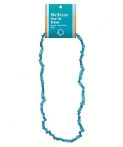 Howliet blauw splitketting + kaart (gekleurd)