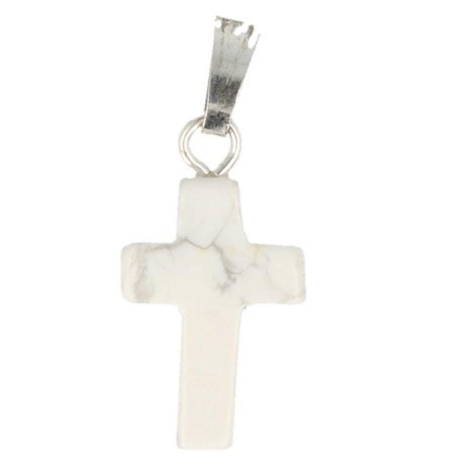 Howliet wit kruis hanger 14 mm