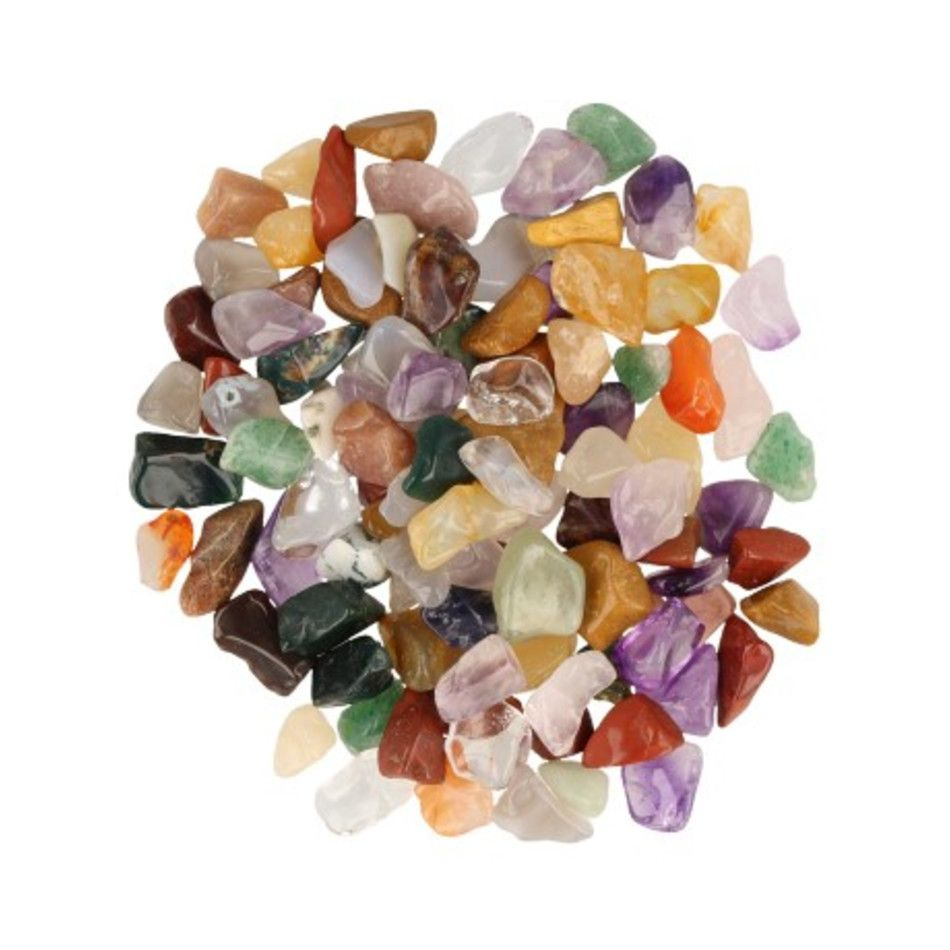 India mix 100 gr. trommelstenen (mt0-1)