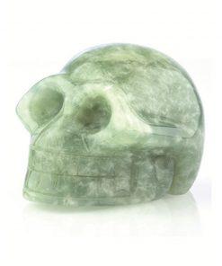 Jade edelsteen schedel klein