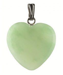 Jade hart hanger 20 mm