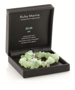 Jade Ruby Mania, armband nr 18, nugget