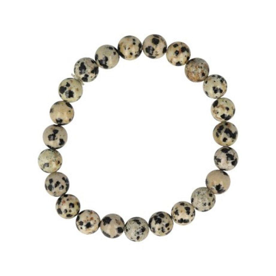 Jaspis dalmatiër kralenarmband 8 mm