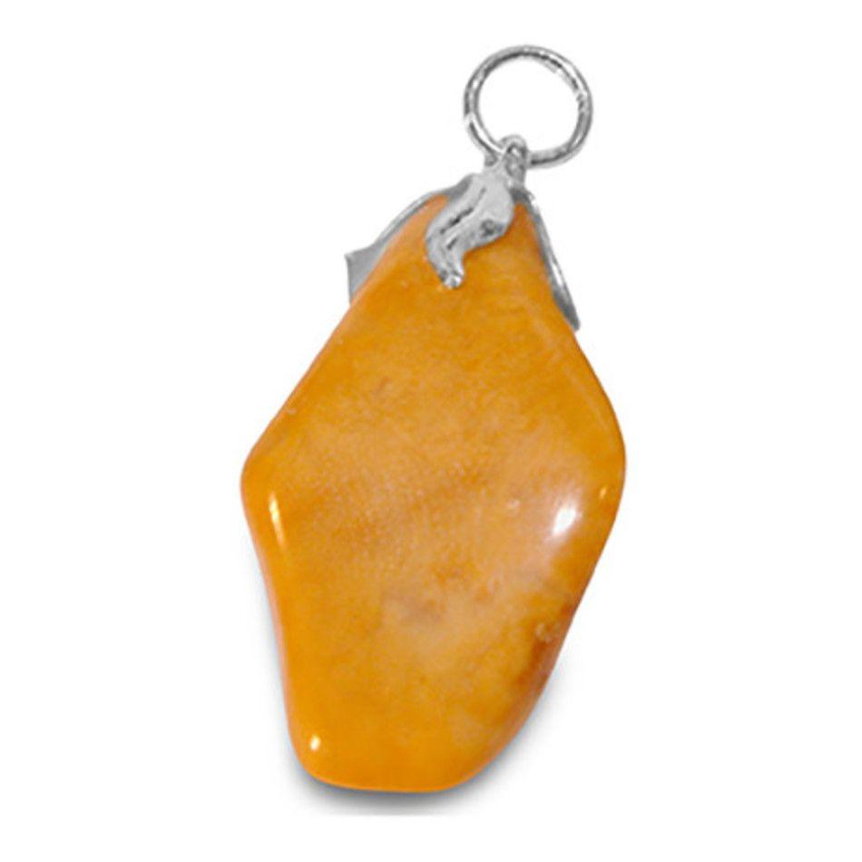 Jaspis geel edelsteen hanger