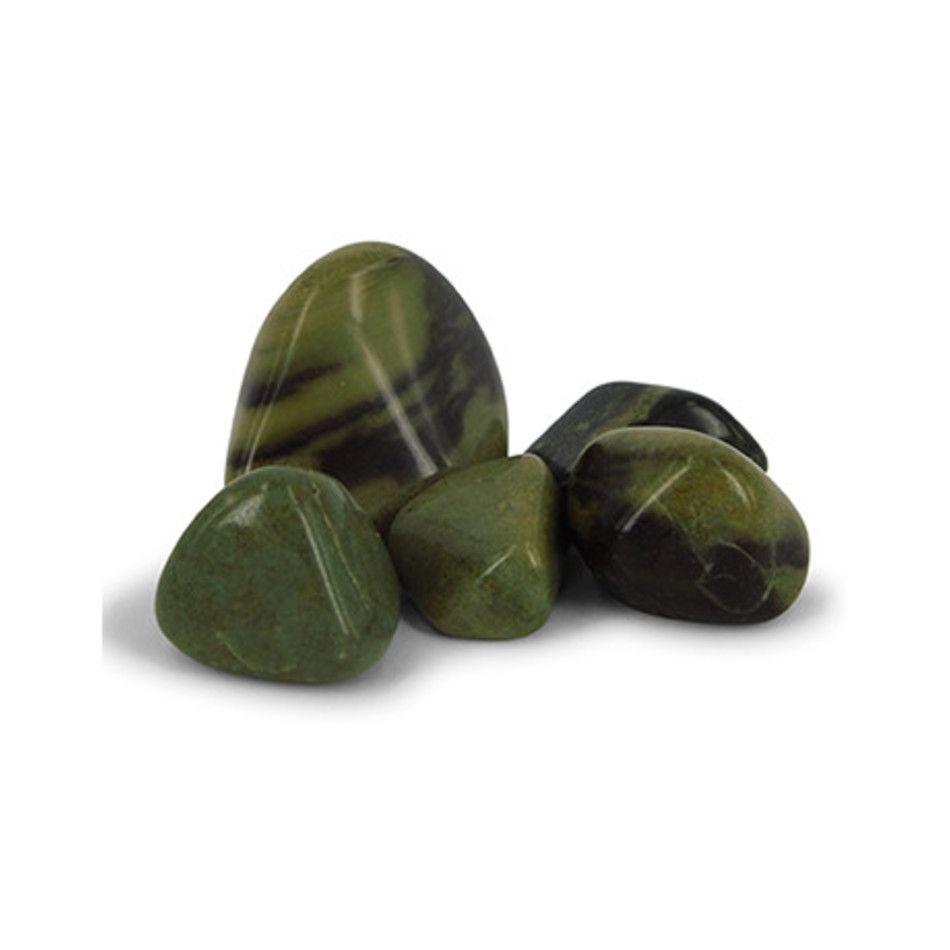 Jaspis groen 50 gr. trommelstenen (mt3)
