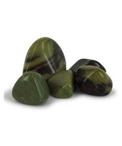 Jaspis groen trommelstenen (mt2-3), p/kg