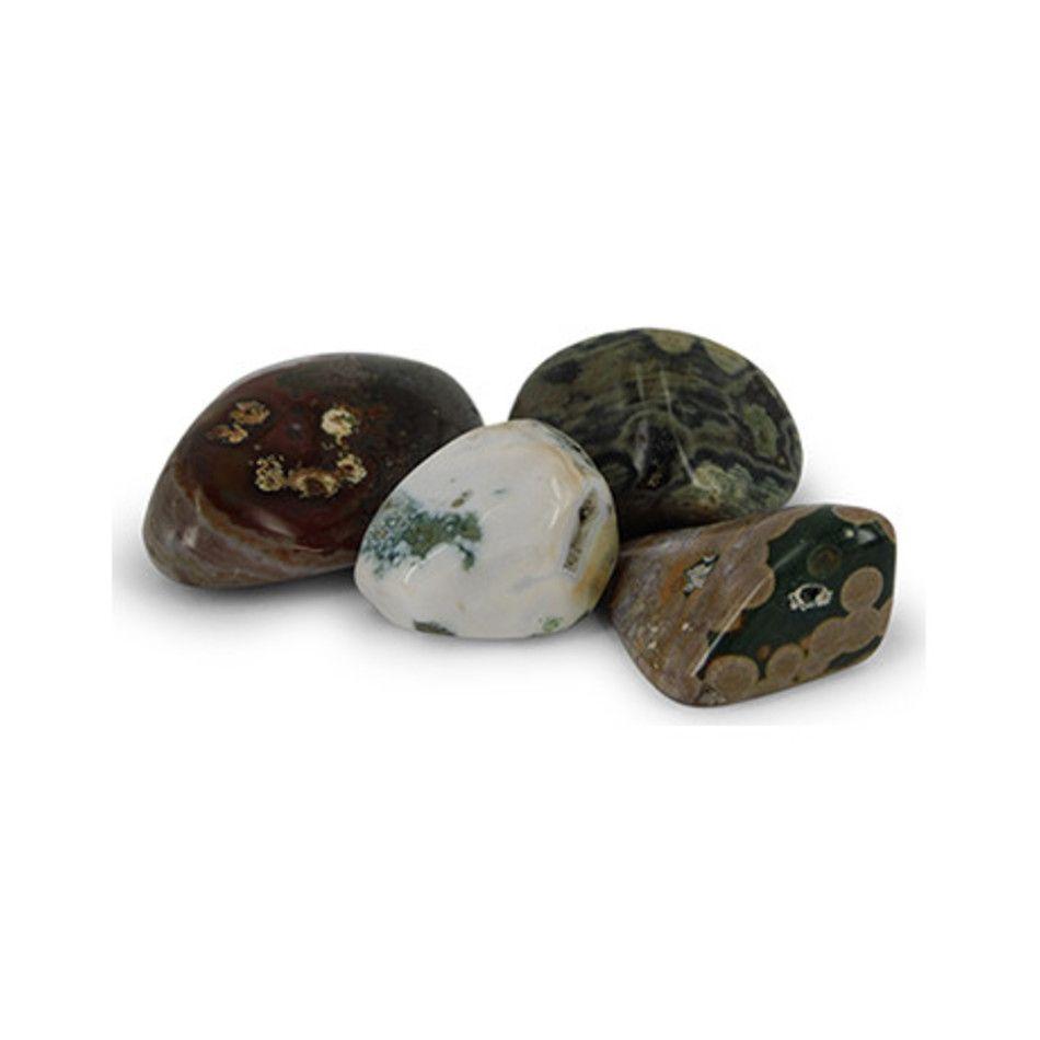 Jaspis oceaan trommelstenen, per gram (mt2)