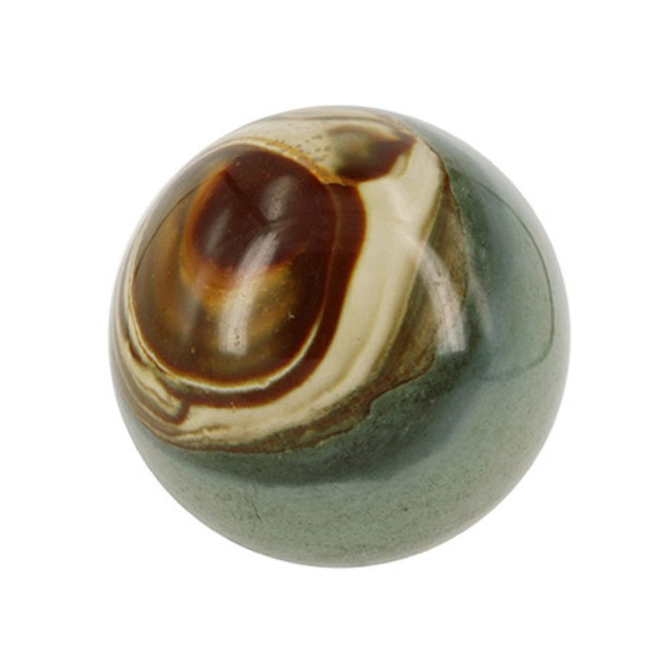 Jaspis polychroom edelsteen bol 6,5 cm