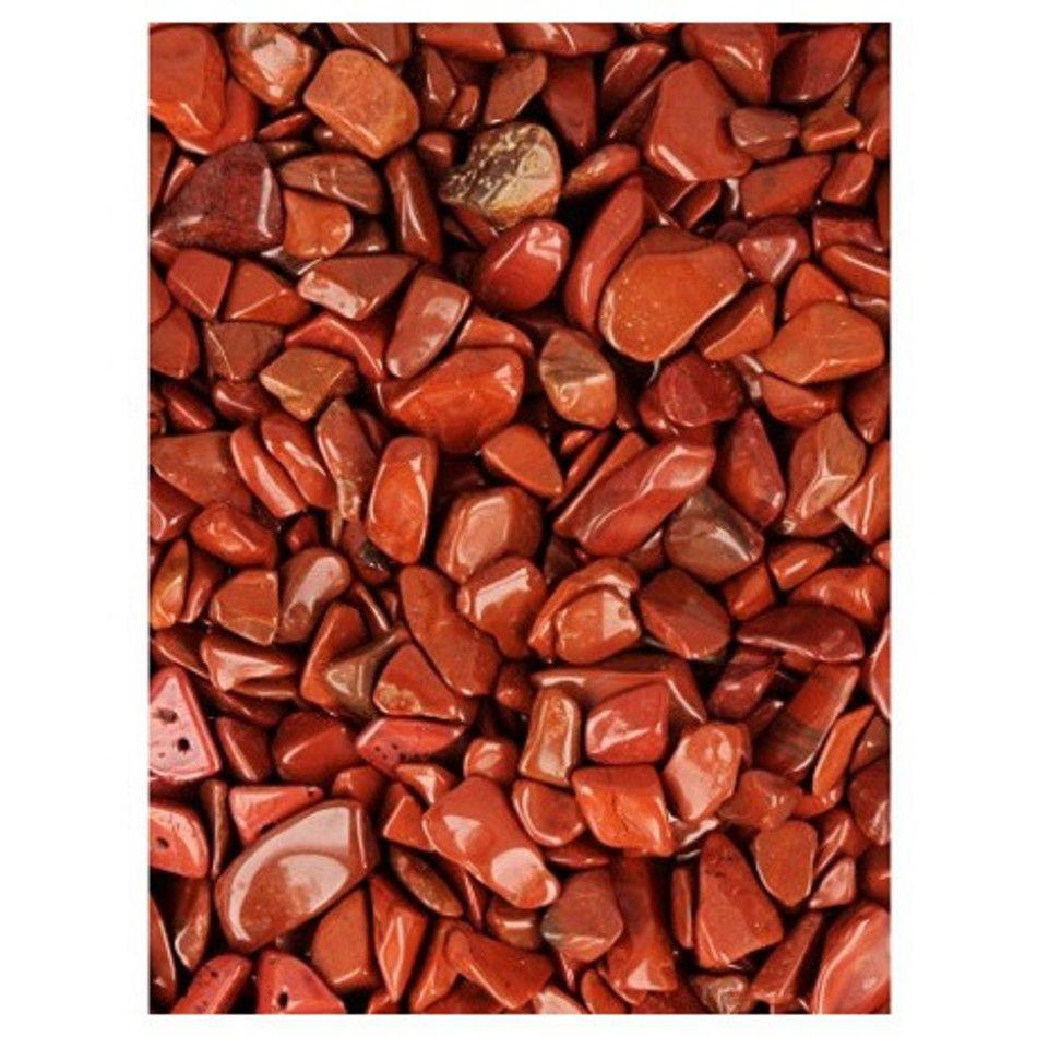 Jaspis rood 100 gr. trommelstenen (mt1)