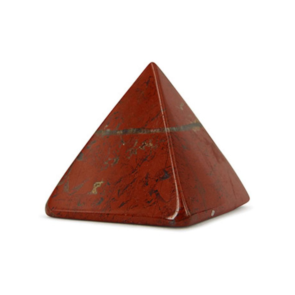 Jaspis rood piramide 25 mm edelsteen