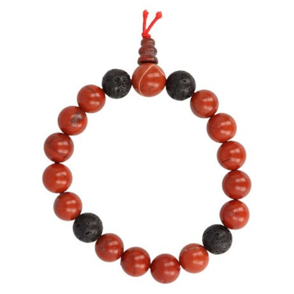 Jaspis rood powerbead mannen armband
