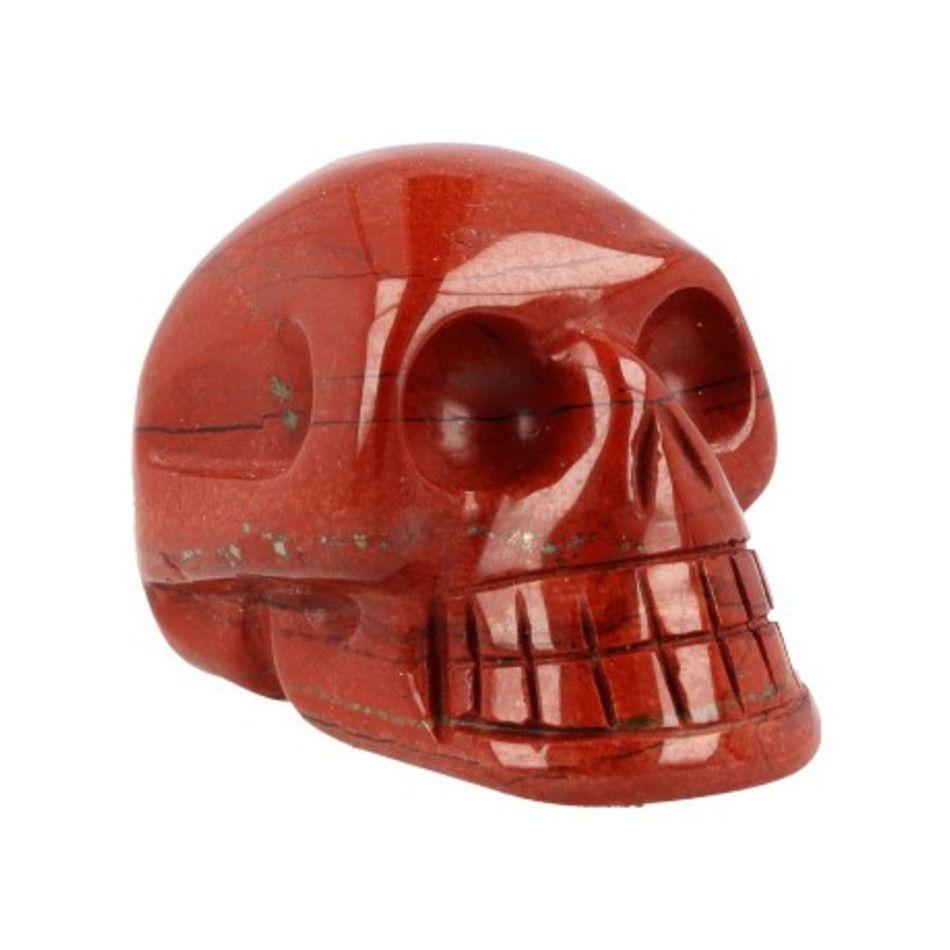 Jaspis rood schedel 40 mm