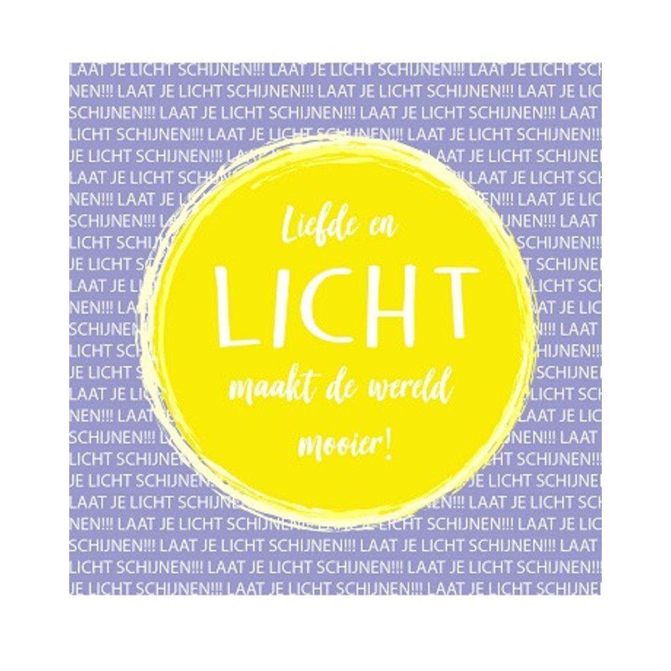 Kaart - Liefde en licht maakt de wereld mooier