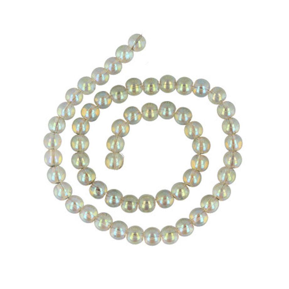 Kralen streng Aqua Aura licht 8 mm